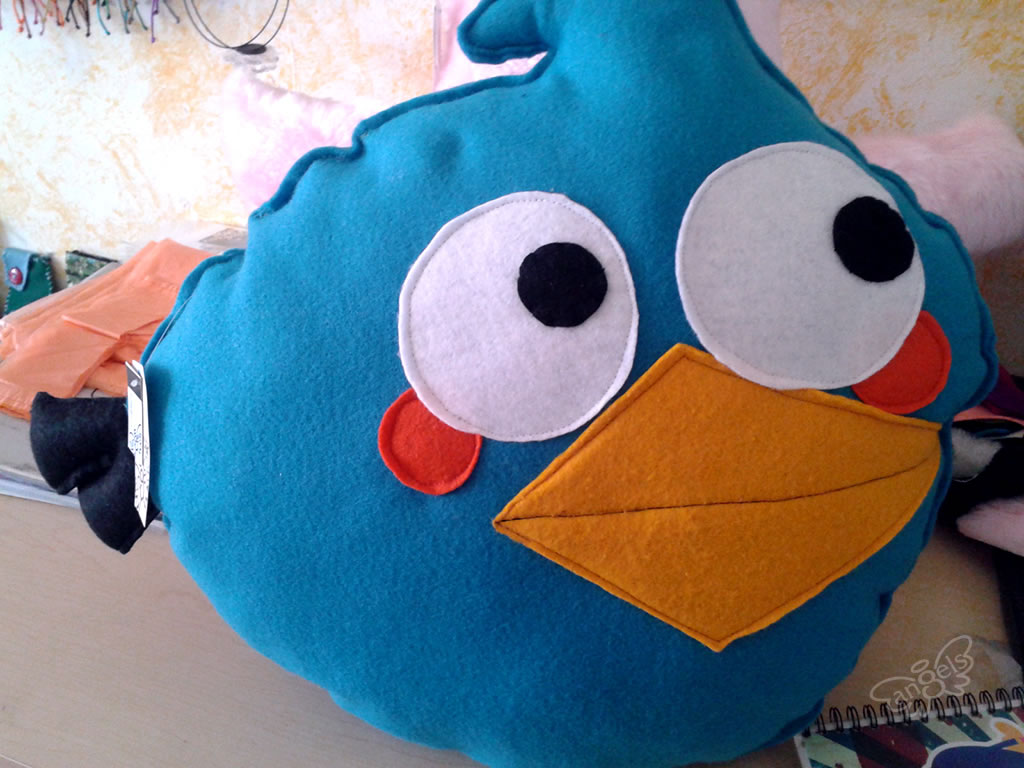 angry birds peluche blue - angelsproject
