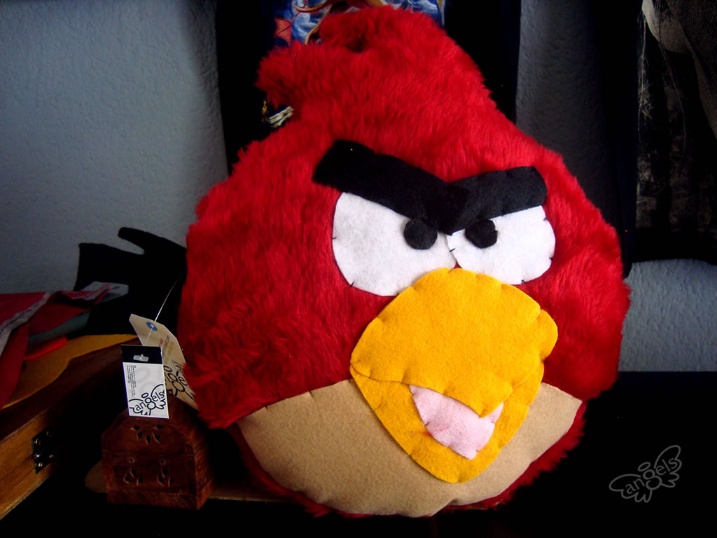 angry birds peluche red - angelsproject