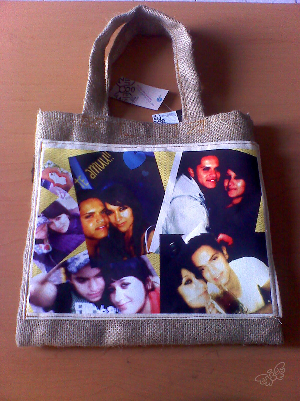 bolsa collage yute - angelsproject