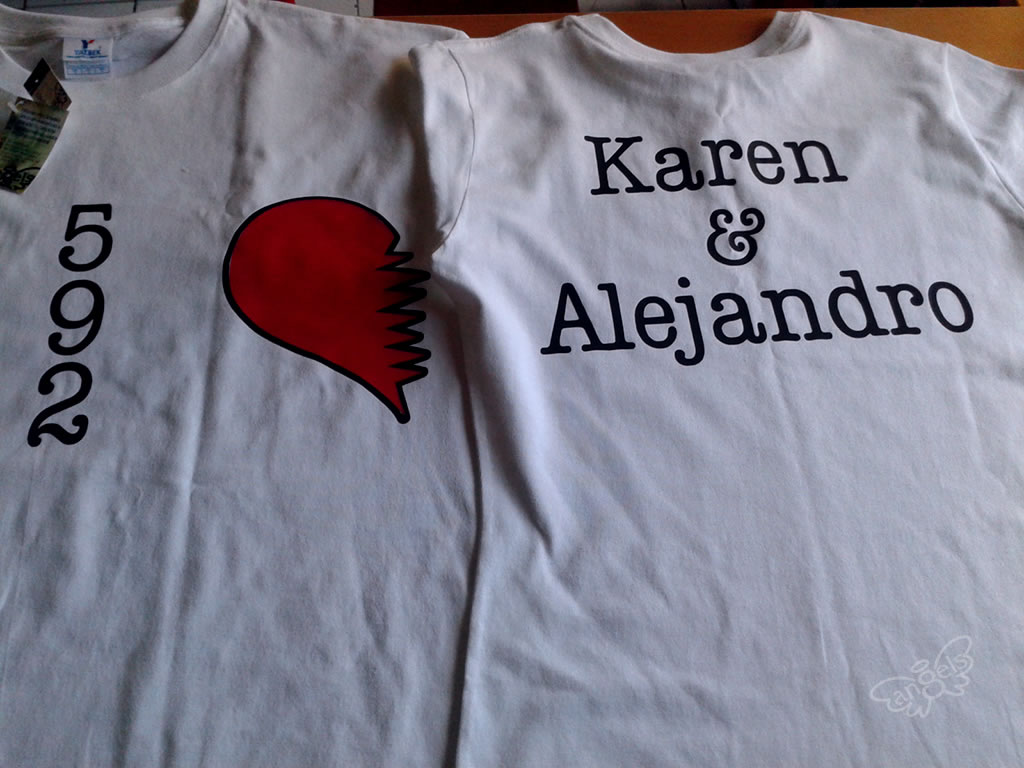 playera enamorados - angelsproject