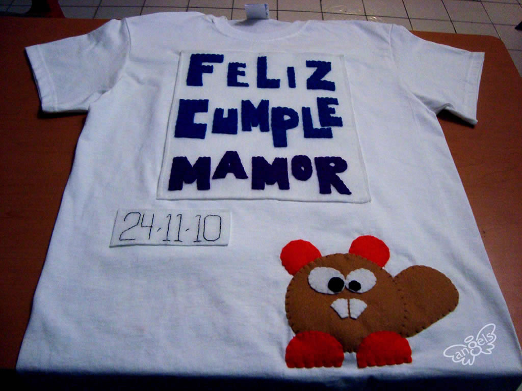 playera feliz cumple - angelsproject