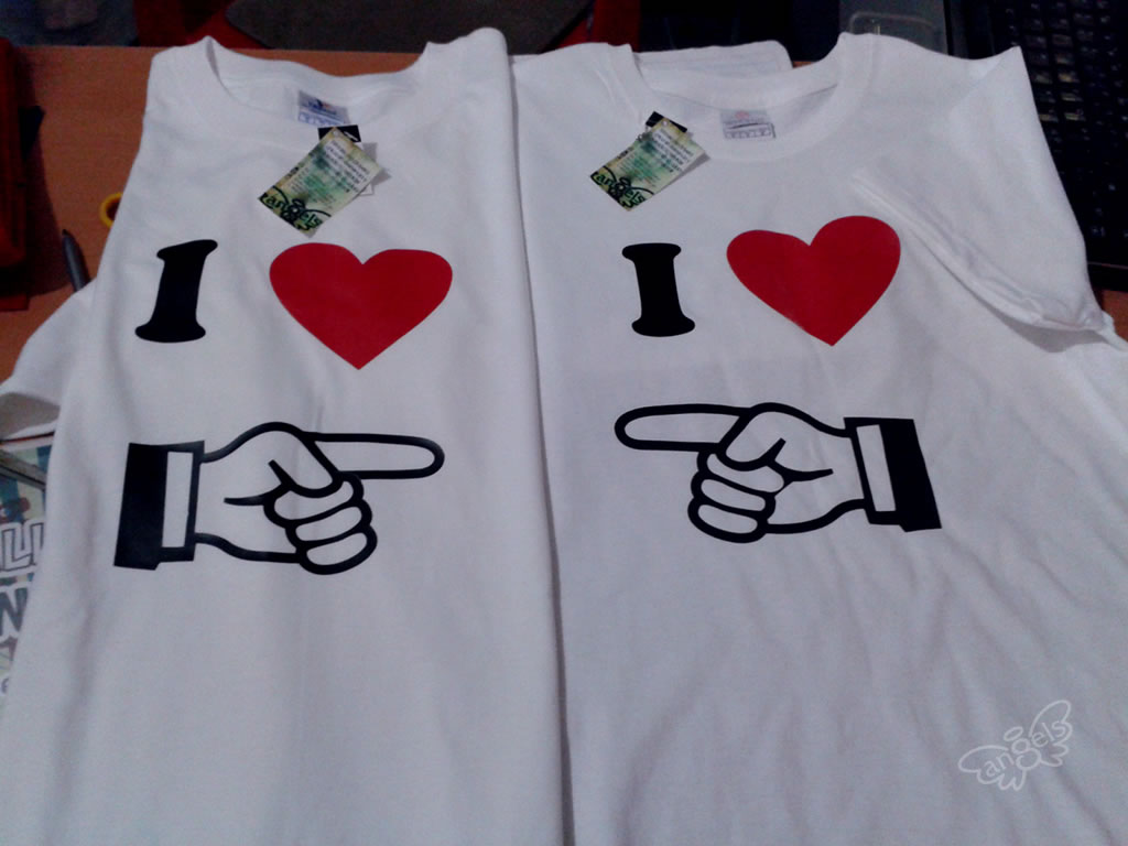 playera I love you - angelsproject