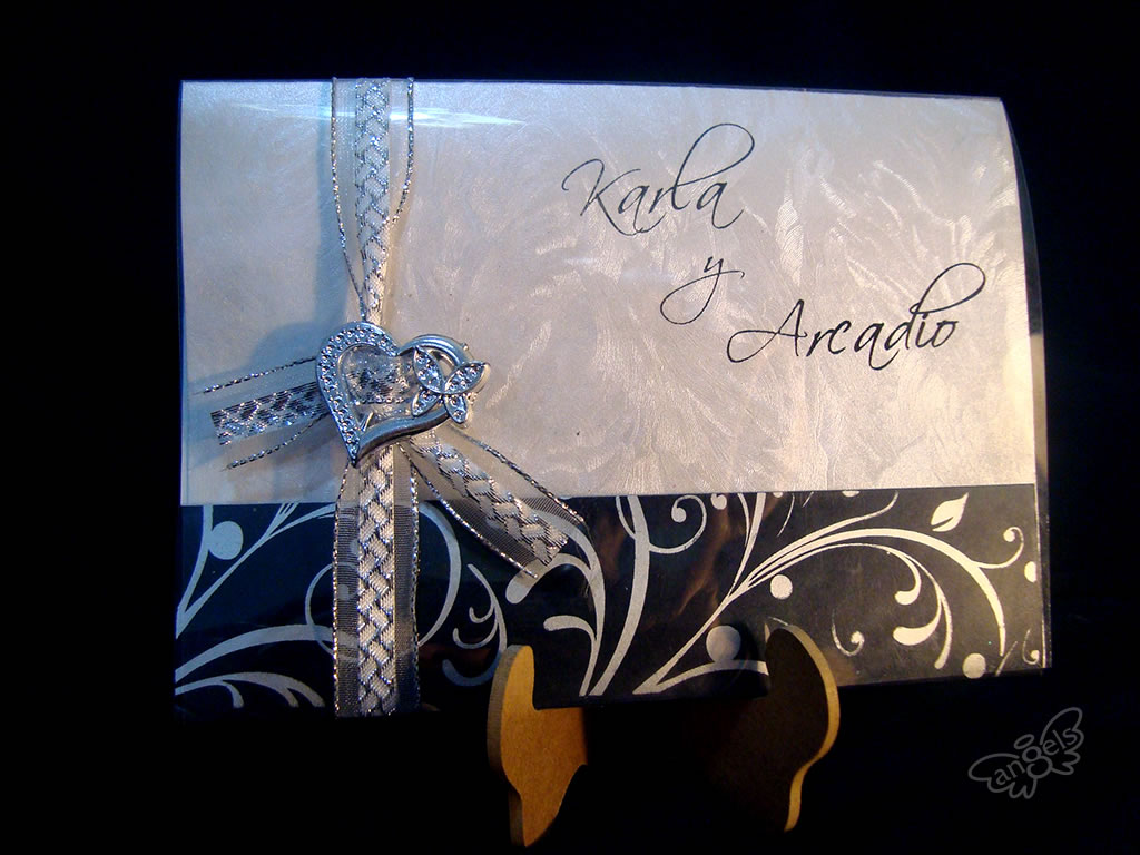 invitación boda acetato - angelsproject