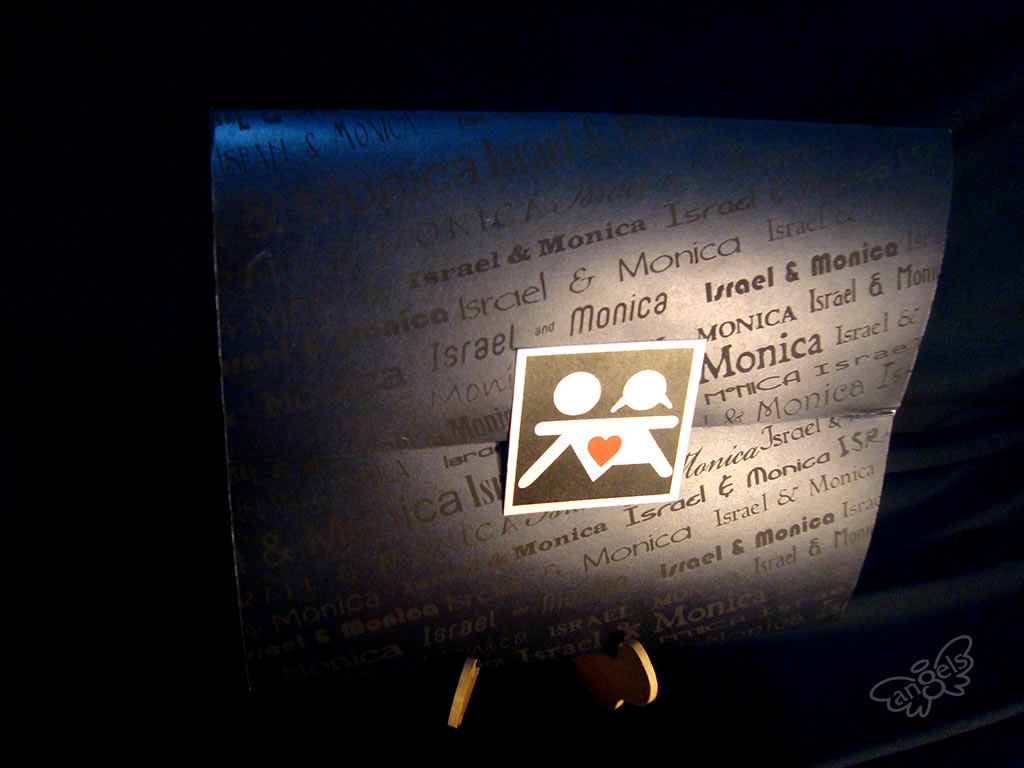 invitación boda monitos - angelsproject